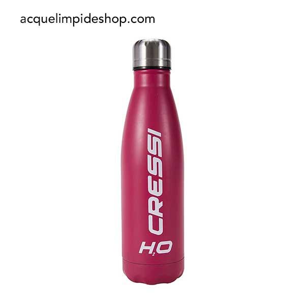 BORRACCIA CRESSI H2O ACCIAIO INOX 500 ML,attrezzature sub, borraccia cressi,