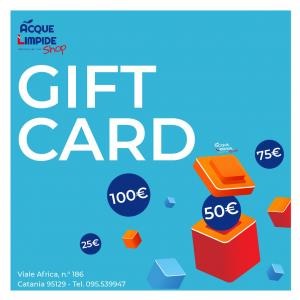 GIFT CARD, buoni regalo, negozio subacquea